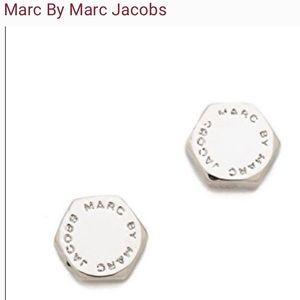 Marc by Marc jacobs silver bolt stud earrings